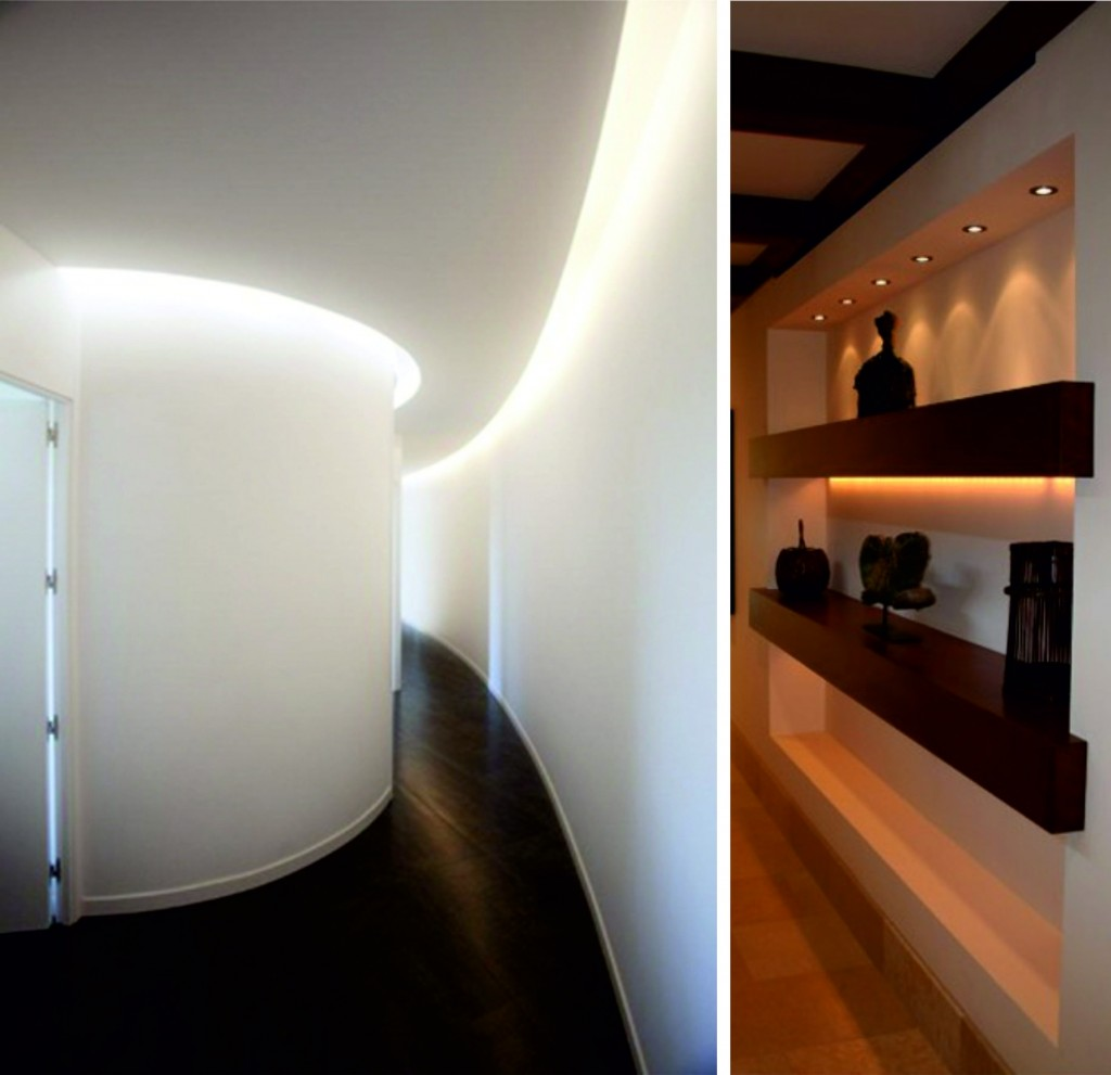Tiras led para intetior y exterior iluminaci n decorativa for Iluminacion exterior pared