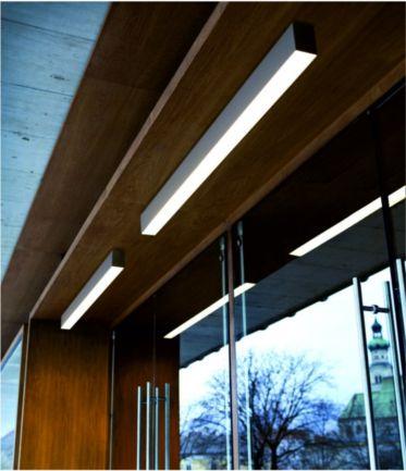 luminaria lineal en superficie con tecnología led de varias longitudes