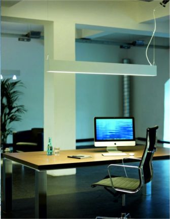 luminaria lineal para montaje suspendido con tecnologia led