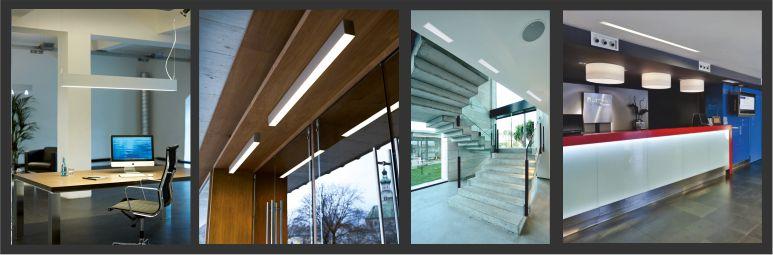 luminarias lineales para montaje empotrable,suspendido y en superficie