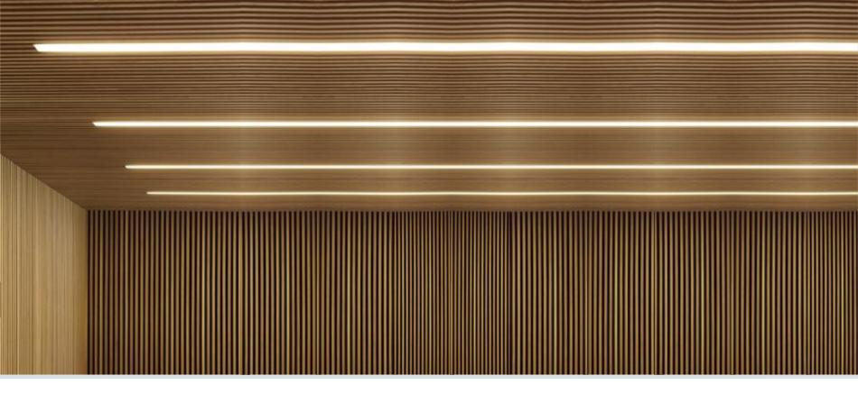 Luminaria lineal empotrada Rus para iluminación arquitectónica y oficinas
