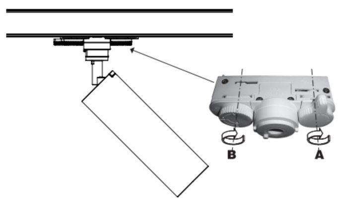 como instalar focos en carril