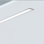 Luminaria lineal empotrada led con estética minimalista para iluminación oficinas