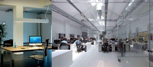 iluminación de oficinas con soluciones Led