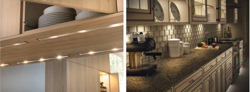 como iluminar muebles y armarios en cocinas