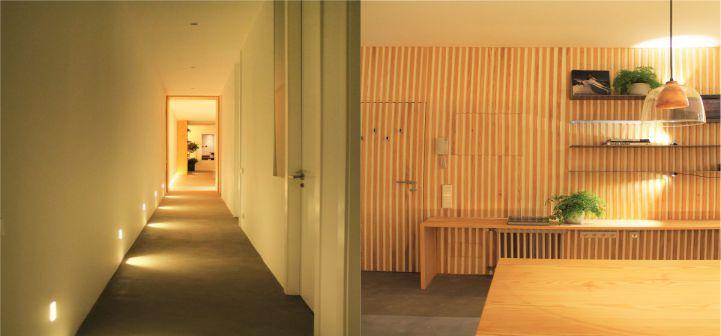 Ideas de iluminación en pasillo en casas modernas