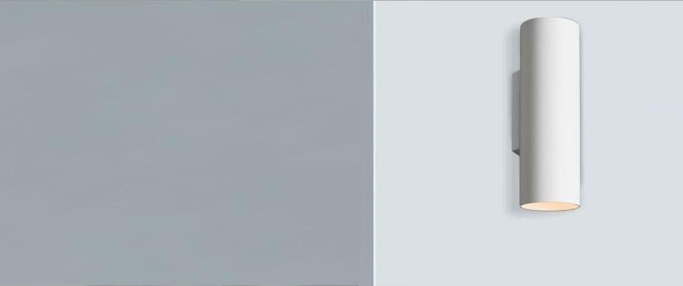 Aplique de pared con luz directa e indirecta Cilim 85 para iluminación de interior