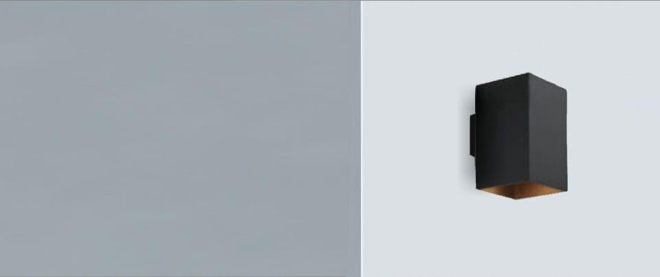 Aplique de pared rectangular con luz directa Led Box 135 para espacios arquitectonicos