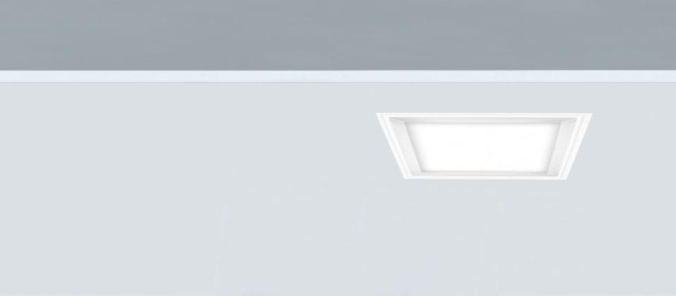 Downlight cuadrado 12W para luz general Fly-c 140