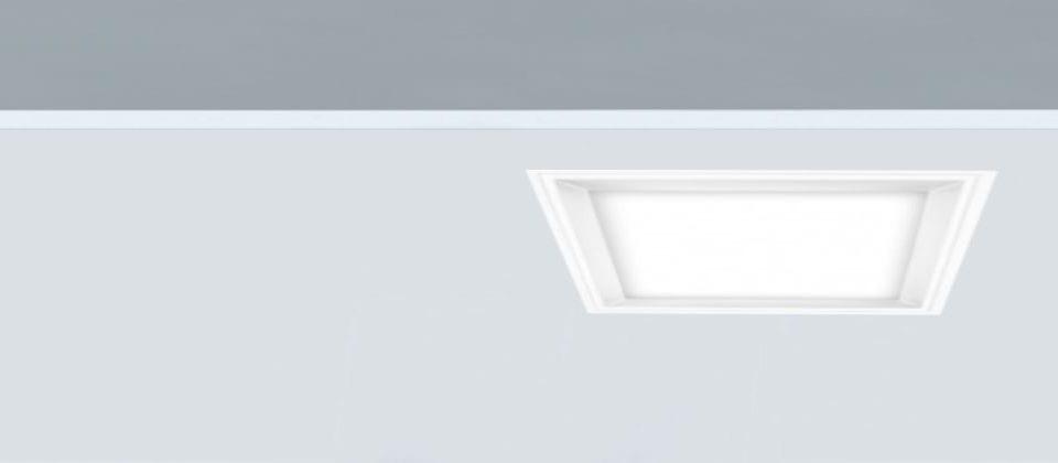 Downlight cuadrado 25W Fly-c 220 ideal para luz general