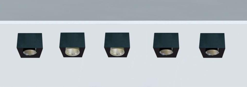 Luminaria Led suspendida para iluminación de restaurantes block