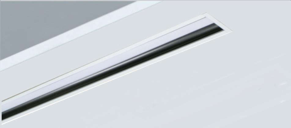 Luminaria led lineal empotrada Rus Apantallada con óptica remetida
