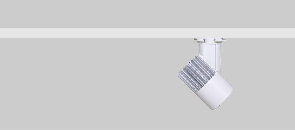 Focos de carril Odeón 85 para la iluminación de restaurantes