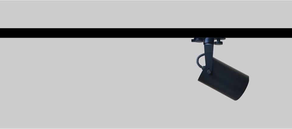 foco carril gu10 compacto, versatil y funcional