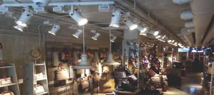 foco de carril vintage Cinema para iluminación de restaurantes o tiendas