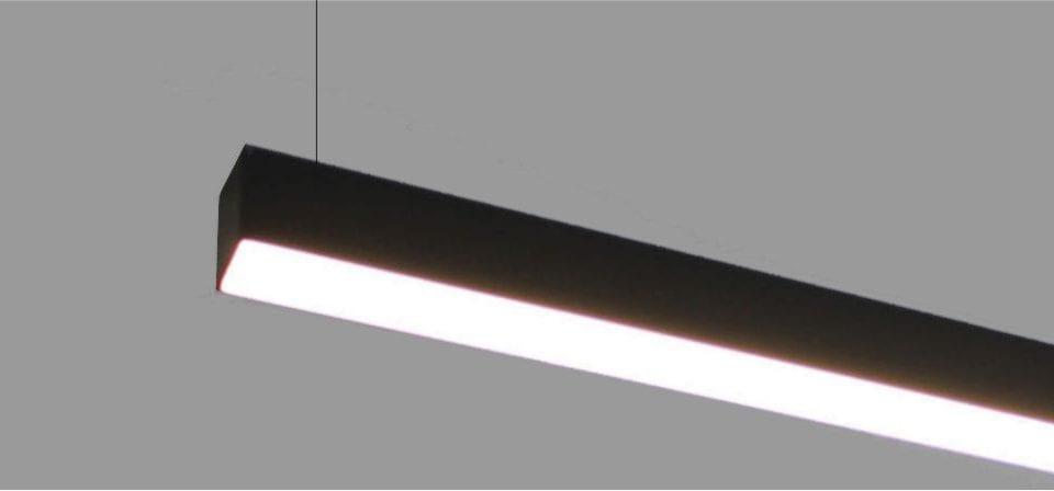 luminaria lineal suspendida