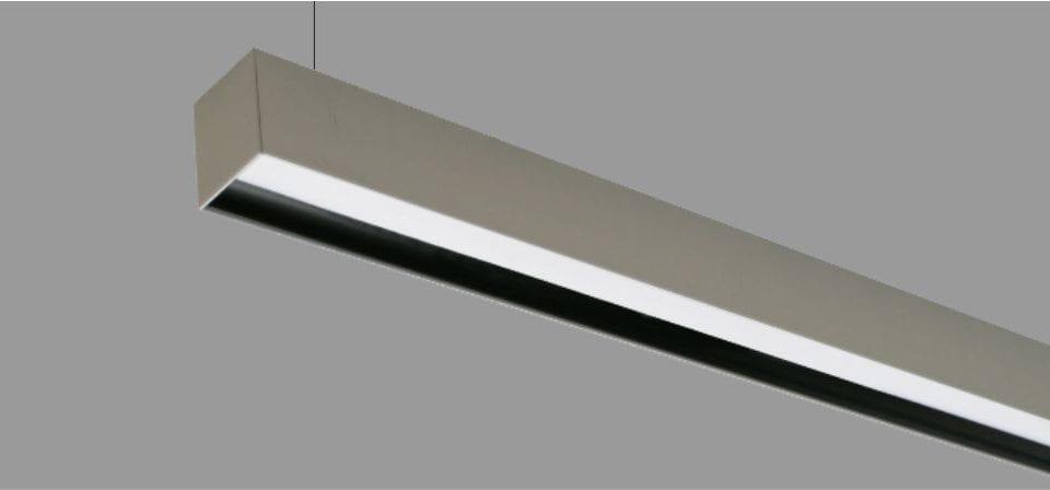 luminaria lineal suspendida apantallada