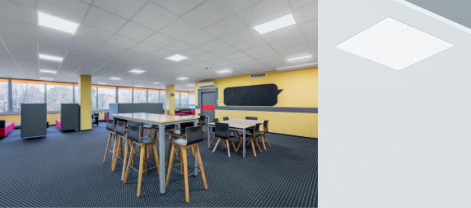 panel led regulable 60x60 para iluminación de oficinas y centros escolares