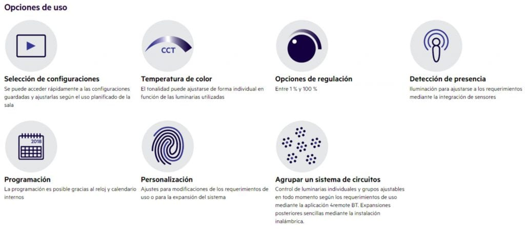 regulación iluminación bluetooth