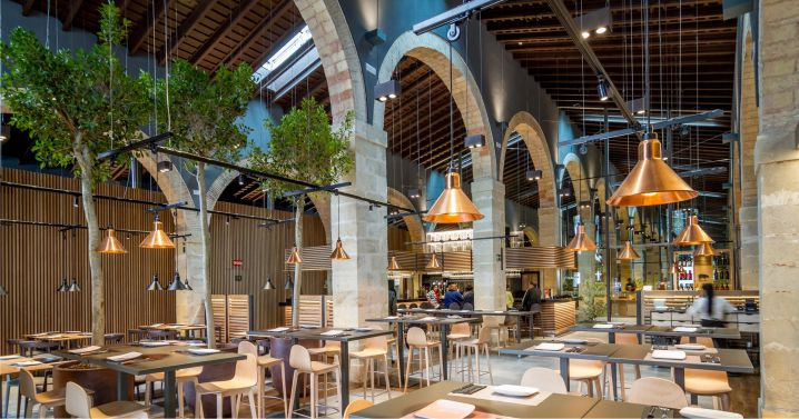 iluminación bodega restaurante