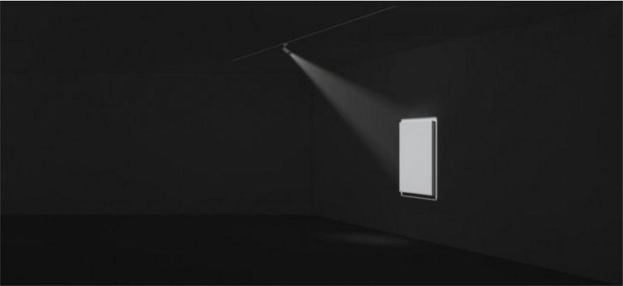 Ideal para el ajuste de luz en cuadros en galerías de arte y museos.