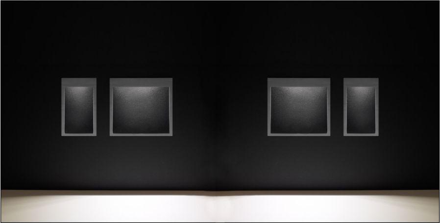 bañador de pared empotrado en formato cuadrado y rectangular para iluminación exterior