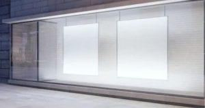 iluminación de fondo y laterales escaparates