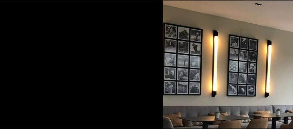 aplique de vidrio estriado para hoteles y restaurantes