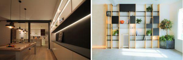 Mobiliario con Luz para comedores.
