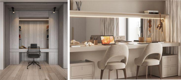 diseño iluminacion zonas de trabajo en casa