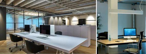 Luminarias lineales oficina