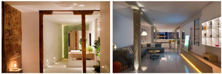 iluminación led interiores de casas en zonas de paso