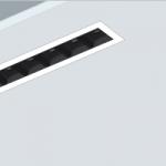 Luminaria empotrada high contrast lineal ugr19 para iluminación de oficinas