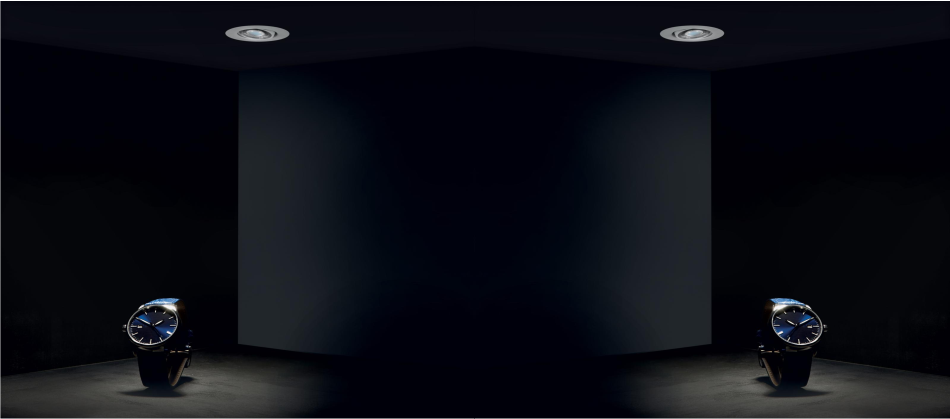 Mini Foco empotrable orientable para vitrinas Lesor 50