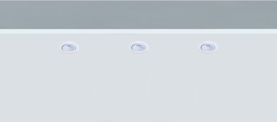 Mini Foco empotrable para vitrinas Lesor 50 orientable