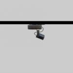 Mini foco para carril Minispot 25 regulable para iluminación de vitrinas