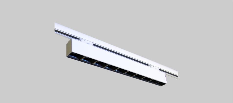 Luminaria led para carril Slim Rus High Contrast con opticas dark light